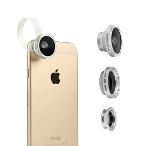 BASEUS Clip-on Fisheye + Wide Angle + Macro Lens for Apple Samsung Sony LG HTC etc Smartphones