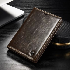 CASEME for BlackBerry Passport Silver Edition Oil Wax Leather Case Card Holder - Brown