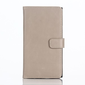 Retro Style Leather Cover Credit Card Holder for BlackBerry Priv - Grey