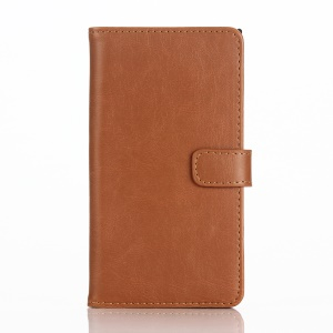 Retro Style Leather Stand Cover Wallet Case for BlackBerry Priv - Brown