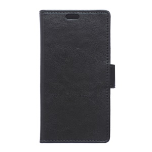 For BlackBerry Priv Crazy Horse Leather Card Holder Case - Black