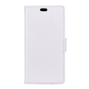 Crazy Horse Leather Wallet Cover for BlackBerry DTEK50 / Neon - White