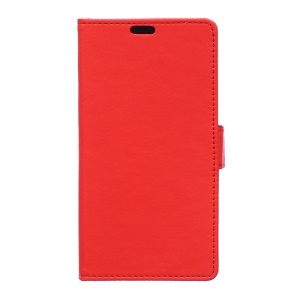 Faux Leather Wallet Stand Shell for Blackberry DTEK50/Neon - Red