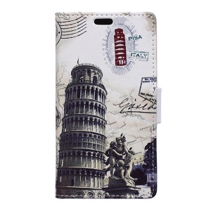 Leather Stand Phone Cover for BlackBerry DTEK50 / Neon - Leaning Tower of Pisa