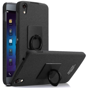 IMAK Matte Hard PC Case with Ring Kickstand for BlackBerry Neon - Black