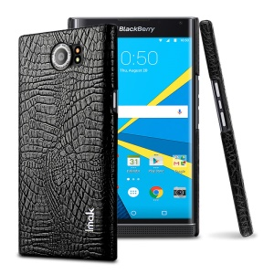 IMAK Ruiyi Series Crocodile Leather Coated PC Phone Case for BlackBerry Priv - Black