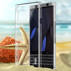 IMAK Crystal Clear Wear Resistant Hard Back Case for BlackBerry Keyone - Transparent