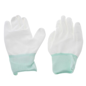 Carbon Fiber Anti-Static Dust-free Anti-sweat Work Gloves White