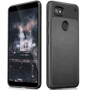IVSO Gentry Series Leather Revestido TPU Back Case para Google Pixel 2 XL - negro
