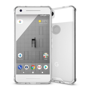 TPU + Transparent Acrylic Protective Mobile Phone Cover for Google Pixel 2 - Transparent