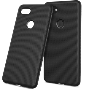 Twill Texture TPU Back Mobile Cover for Google Pixel 3 - Black