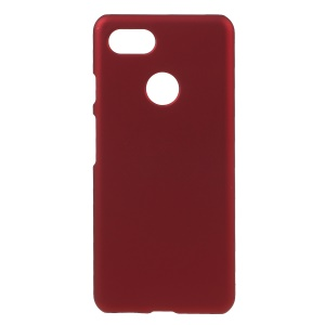 Rubberized Hard Plastic Phone Case for Google Pixel 3 - Red
