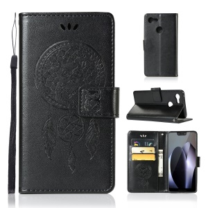 Imprint Owl Dream Catcher PU Leather Flip Case for Google Pixel 3 XL / XL 3 - Black