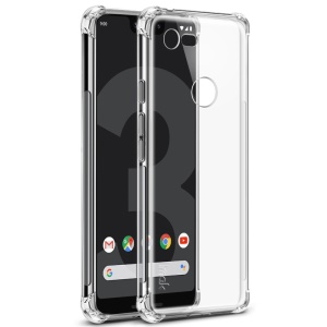 IMAK for Google Pixel 3 lite, Smooth Feel Anti-drop TPU Shell + Explosion-proof Screen Film - Transparent