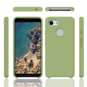 Liquid Silicone Mobile Casing for Google Pixel 3 XL - Green
