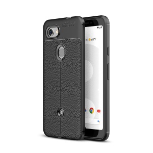 Litchi Grain Soft TPU Back Protection Case for Google Pixel 3a - Black