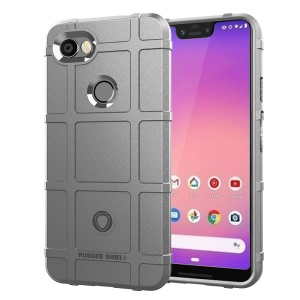 Anti-shock Square Grid Texture TPU Cellphone Shell for Google Pixel 3 XL - Grey