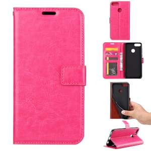 Crazy Horse Wallet Leather Stand Case for Google Pixel 3a XL - Rose