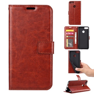 Crazy Horse Wallet Leather Stand Case for Google Pixel 3a - Brown