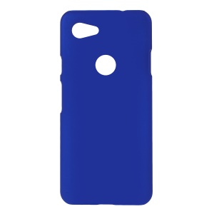 Glossy Rubberized PC Hard Phone Case for Google Pixel 3a - Dark Blue