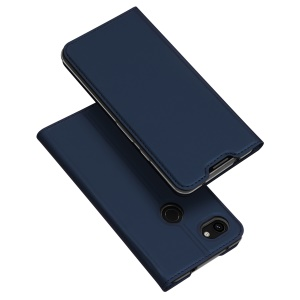 DUX DUCIS Skin Pro Series Leather Case with Card Slot for Google Pixel 3a XL - Blue