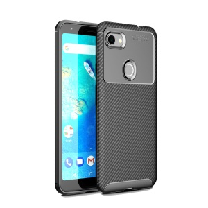 Drop Resistant Carbon Fiber TPU Phone Case for Google Pixel 3a XL - Black