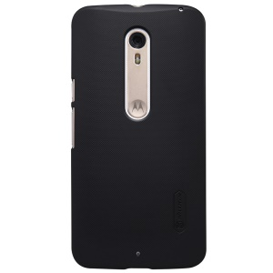 NILLKIN Super Frosted Shield Hard Case for Motorola Moto X Style + Screen Protector - Black