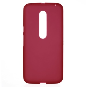 For Motorola Moto X Style Matte Flexible TPU Skin Shell - Red