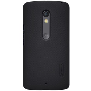 NILLKIN Super Frosted Shield Hard Case for Motorola Moto X Play + Screen Protector - Black