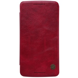 NILLKIN Qin Series for Motorola Moto X Play Leather Flip Cover Card Holder - Red