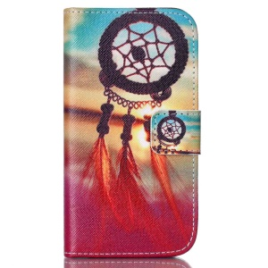 Leather Phone Cover for Motorola Moto E2 XT1505 XT1511 - Sunset Dream Catcher