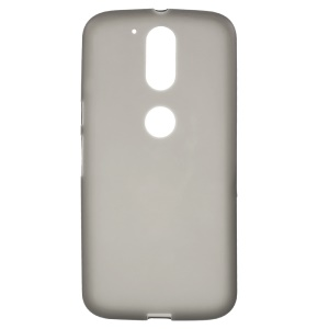 Double-sided Frosted TPU Back Case for Motorola Moto G4 / G4 Plus - Grey
