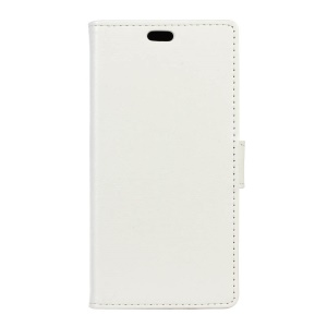 Crazy Horse Leather Wallet Cover for Motorola Moto G4 / G4 Plus - White