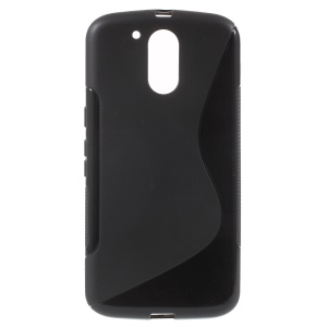 S Shape TPU Case for Motorola Moto G4 / G4 Plus - Black