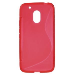 S-style Soft TPU Gel Phone Cover for Motorola Moto G4 Play - Red