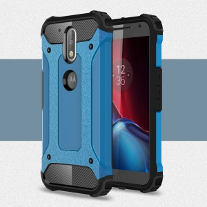 Armor PC TPU Combo Cover for Motorola Moto G4/G4 Plus - Baby Blue