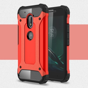 Armor PC TPU Phone Back Case for Motorola Moto G4 Play - Red