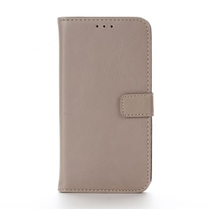 Retro Crazy Horse Wallet Leather Stand Cover for Motorola Moto G4 Play - Grey