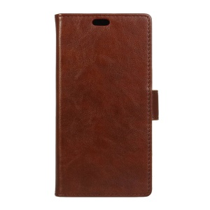 Crazy Horse Leather Case with Stand Card Slots for Motorola Moto Z/Z Droid - Brown