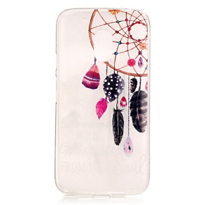 Fashion Patterned Clear IMD TPU Phone Case for Motorola Moto G4 Play - Dream Catcher