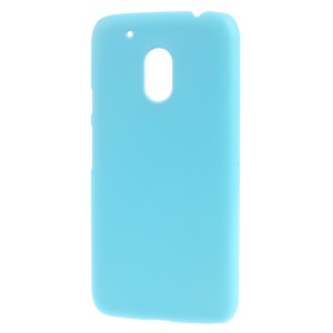 Rubber Coating PC Hard Shell Case for Motorola Moto G4 Play - Baby Blue