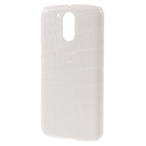 White Crocodile Leather Coated Hard Case for Motorola Moto G4 / G4 Plus