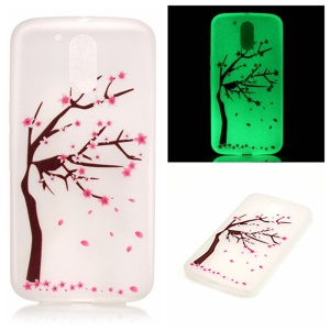 Noctilucent Gel Back Case for Motorola Moto G4 / G4 Plus - Plum Flower Tree
