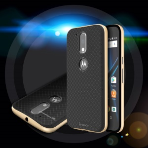 IPAKY PC Bumper + TPU Phone Back Case for Motorola Moto G4 / G4 Plus - Gold