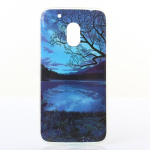 Patterned TMD TPU Gel Case for Motorola Moto G4 Play - Peaceful Night and Moon