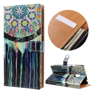 PU Leather Card Holder Case for Motorola Moto G4 Play - Dream Catcher