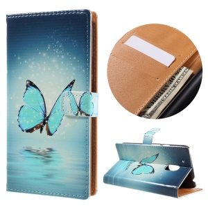 Stand Leather Wallet Cover Case for Motorola Moto G4 Play - Pretty Butterfly