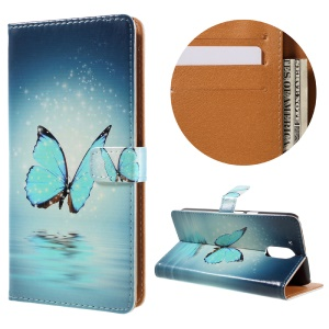 Stylish Pattern Leather Wallet Phone Shell for Motorola Moto G4 / G4 Plus - Butterfly