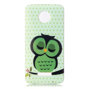 Soft IMD TPU Case for Motorola Moto Z - Sleeping Owl on the Branch