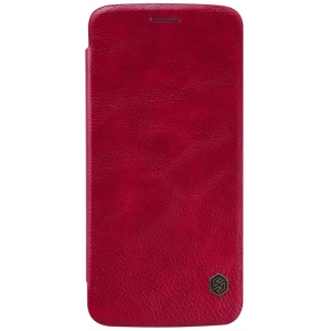 NILLKIN Qin Series Leather Case with Stand for Motorola Moto Z - Red